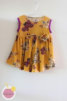 flower dress to toddler from old womes shirt