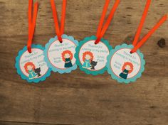 Brave Friends Party - Set of 12 Personalized Favor Tags by The Birthday House Merida Cake, Brave, Custom Cupcakes, Ideas Para Fiestas, Personalized Favors, Fiesta Party, Favor Tags, Party Themes, Birthday Parties
