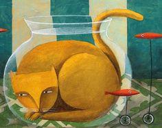 Aquatische Cat von Carlos C. Lainez
