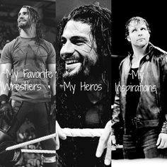 my heros, my inspirations and my fave wrestlers!! seth, roman and dean