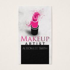 Elegant white faux gold lips makeup artist business card makeup makeup artist business card reheart Image collections