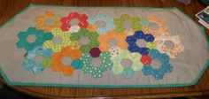 Hexagons--Conquered! Table Runner - QUILTING