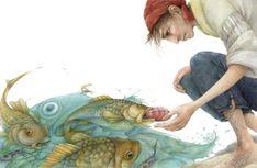 Grimm illustration by Lina Dudaite Fairy, Illustrators, Fish Art, Illustration, Drawings, Painting, Art, Fairytale Art