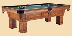 The Sheffield Pool Table, custom made by Peters Billiards in MN.