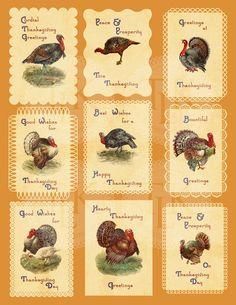 Thanksgiving Digital Collage Sheet  Vintage Toms by tigermucha, $4.00