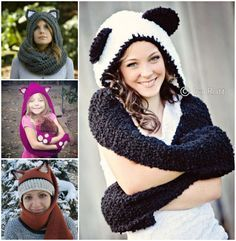 Is it a Scarf? Is it a Hoodie? It's a Crochet Scoodie and it looks fantastic! Get all the Patterns now.