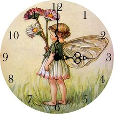 @Rosenberry Rooms is offering $20 OFF your purchase! Share the news and save!  Little Daisy Fairy Vintage Wall Clock #rosenberryrooms