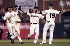Begin the Celebration! Division Champs! MLB: San Diego Padres at San Francisco Giants