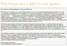 Why Miracle-Gro is BAD for your garden.