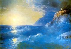 """Ivan Aivazovsky """"Napoleon on the Isle of st. Helena"""". 1897."""