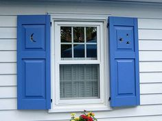 Cottage style exterior shutters decorative exterior for Craftsman style window boxes