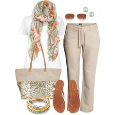 "#plus #size #casual ""Linen Pants - Plus Size"" by alexawebb on Polyvore"