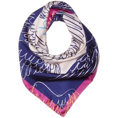 Vivienne Westwood Apollo 70X70 (135 CAD) ❤ liked on Polyvore featuring accessories, scarves, ecru, vivienne westwood, square silk scarves, silk shawl, square scarves and patterned scarves