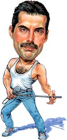 Freddie Mercury of Queen by ExaggerArt.com
