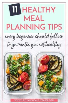 Keeping up with eating healthy can be a real challenge when you have a busy schedule. Meal planning is the solution. Here are 11 healthy meal planning tips ever Easy Ketogenic Meal Plan, Easy Diet Plan, Diet Plan Menu, Ketogenic Diet, Healthy Meals For Two, Healthy Diet Plans, Quick Meals, Healthy Eating, Clean Eating