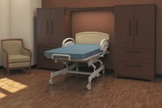 Portofino Durable, ideal for hospitals and extended care facilities Customizable to accommodate the needs of the space and patient, truly furniture your way Design options, HPL or Thermo-formed finishes Euro-bar handle standard