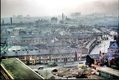 The view from Salford flats in Aston in 1957 gives a good idea of pre-existing conditions in inner-city Birmigham. From the Phyllis Nicklin collection Aston Birmingham, Birmingham England, Birmingham University, 2nd City, Salford, Slums, Local History, Old Photos, Paris Skyline