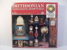 Smithsonian Institution Puzzle Antique Clocks Sealed 550 Pc American Publishing #Smithsonian