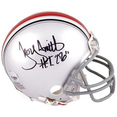 """Troy Smith Ohio State Buckeyes Fanatics Authentic Autographed Riddell Mini Helmet with """"HT 06"""" Inscription - $103.99"""