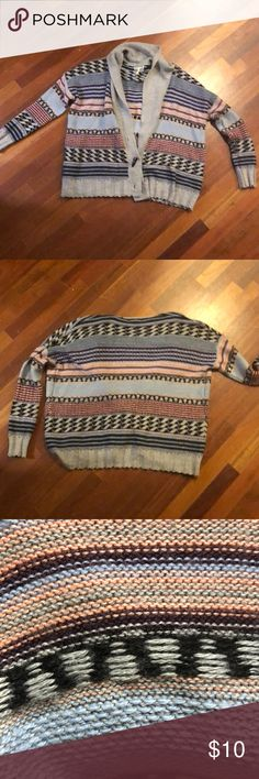 Colorful cardigan Multicolor super warm and cozy cardigan Kirra Sweaters Cardigans