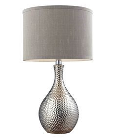 Hammered Chrome Plated Table Lamp