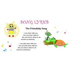 The Friendship Song pre-school learning song is a song which encourages the social skills development in young children. Shills of kindness, sharing, caring and taking turns are embedded in the lyrics. Kindergarten Songs, Preschool Music, Preschool Learning, Literacy Activities, Fun Learning, Preschool Friendship, Friendship Lessons, Friendship Songs, Songs For Toddlers