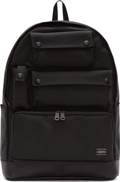 White Mountaineering Black Porter Edtion Backpack