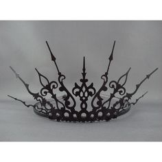 Ultima - Black Filigree Gothic Tiara - Made to Order (320 VEF) ❤ liked on Polyvore featuring jewelry, accessories and tiara