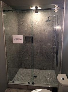 Sliding frameless shower door system with extra large empire rollers, and oversized ladder pull handle. Frameless Sliding Shower Doors, Image Glass, Chrome, Bathtub, Rollers, Ladder, Bathrooms, Empire, Handle