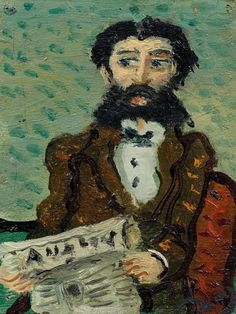 L'homme au Journal   -   André Derain   c.1946-50.  French 1880-1954  Oil on canvas, laid on panel