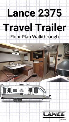"""Kick back in Lance's """"retreat on wheels!"""" Travel Trailer Floor Plans, Rv Campers, Recreational Vehicles, Relax, Flooring, How To Plan, Travel Trailers, Wheels, Camper Trailers"""