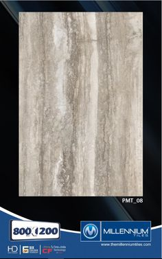 Millennium Tiles 800x1200mm (32x48) PGVT Porcelain Matt XXL Floor Tiles Series  - PMT_08