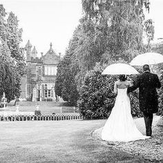Rainy but beautiful wedding day at Hawkesyard Estate in Wedding Venues, Wedding Photos, Wedding Ideas, Wedding Photography List, On Your Wedding Day, Beautiful Bride, Rain, Romance, Wedding Dresses