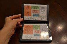 Mini foundations flip book to take along with you, great for Memory Masters.