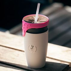 Convert from a mug to a straw-friendly spill-proof bottle with its innovative twisting lid.