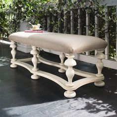 I pinned this Savannah Bench in Linen from the Paula Deen Home event at Joss and Main!