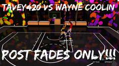 NBA 2K16 - Point Guard vs Center 1v1 - Post Fades Only!