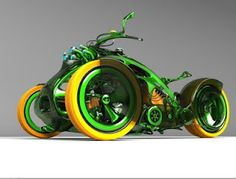 C-Org Trike - I don't care for the colors. It reminds me too much of a John Deere tractor. I'd paint it pink & black. :)