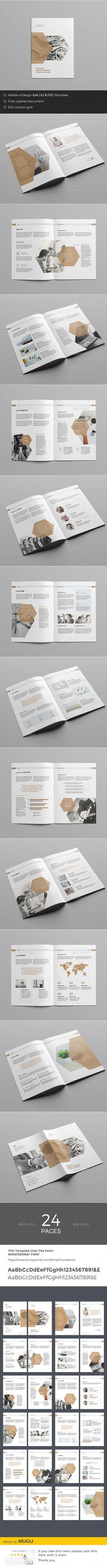 Business Brochure Template InDesign INDD. Download here: https://graphicriver.net/item/business-brochure/17375398?ref=ksioks