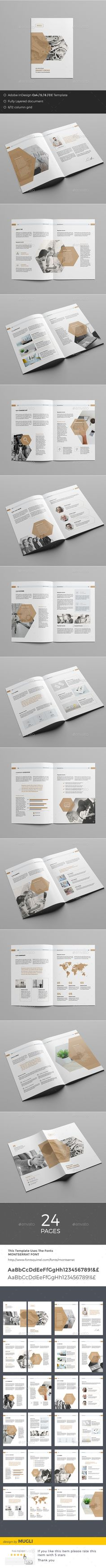 Business Brochure Template InDesign INDD. Download here: https://graphicriver.net/item/business-brochure/17375398?ref=ksioks