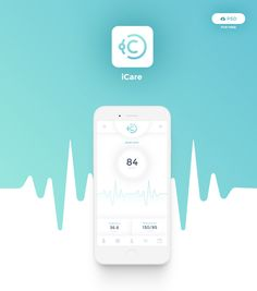 iCare Mobile App PSD