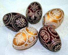 Set of 5 pieces of Easter eggs goose egg  pysanka  by JanaPysanky