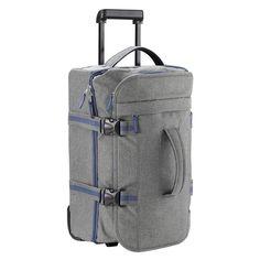 Lightweight Trolley Bag Luggage Cabin Approved Telescopic Strap Handle Grey Blue #LightweightTrolleyBag