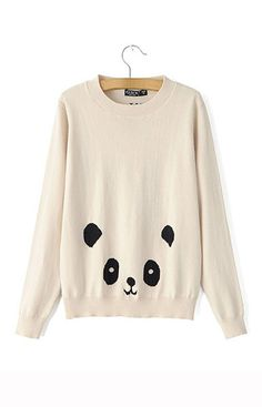 Panda Knitted Sweater