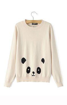 Panda Knitted Sweater