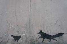 the #Fox #StreetArt #London #Stencil