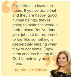Kathie Lee Gifford shares her best parenting advice