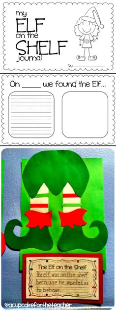 Elf on the Shelf writing from http://acupcakefortheteacher.blogspot.com/search/label/ christmas
