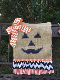 Items similar to Halloween Garden Flags on Etsy Front Doors, Wreaths For Front Door, Door Wreaths, Fall Crafts, Halloween Crafts, Happy Halloween, Burlap Garden Flags, Outdoor Flags, Porch Decorating