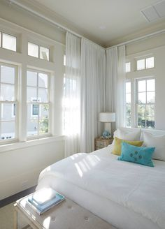 Geoff Chick & Associates (House of Turquoise) Beautiful Bedrooms Master, Beautiful Bedrooms, Beach House Decor, Master Bedroom Inspiration, Home Decor, Bedroom Inspirations, Coastal Design, Coastal Bedrooms, Beach Cottage Decor
